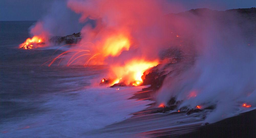 Pasifik Okyanusu'nun dibindeki Kilauea Volkanı