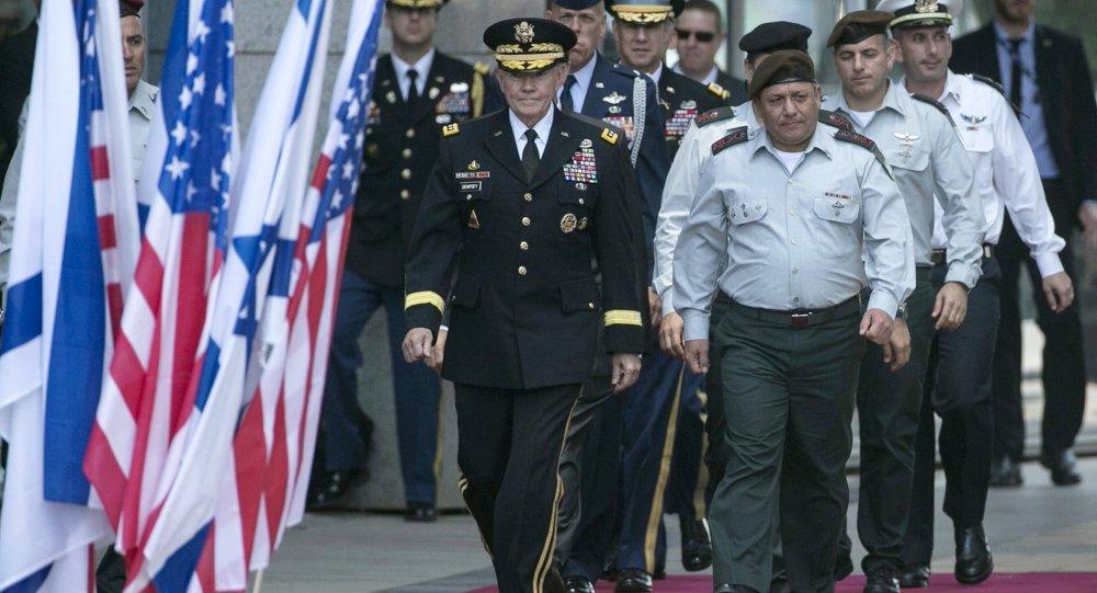 ABD Genelkurmay Başkanı General Martin Dempsey ve İsrail Genelkurmay Başkanı General Gadi Eisenkot