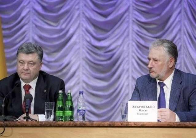 Ukrayna Devlet Başkanı Pyotr Poroşenko - Donetsk Valisi Pavel Jebrivskiy