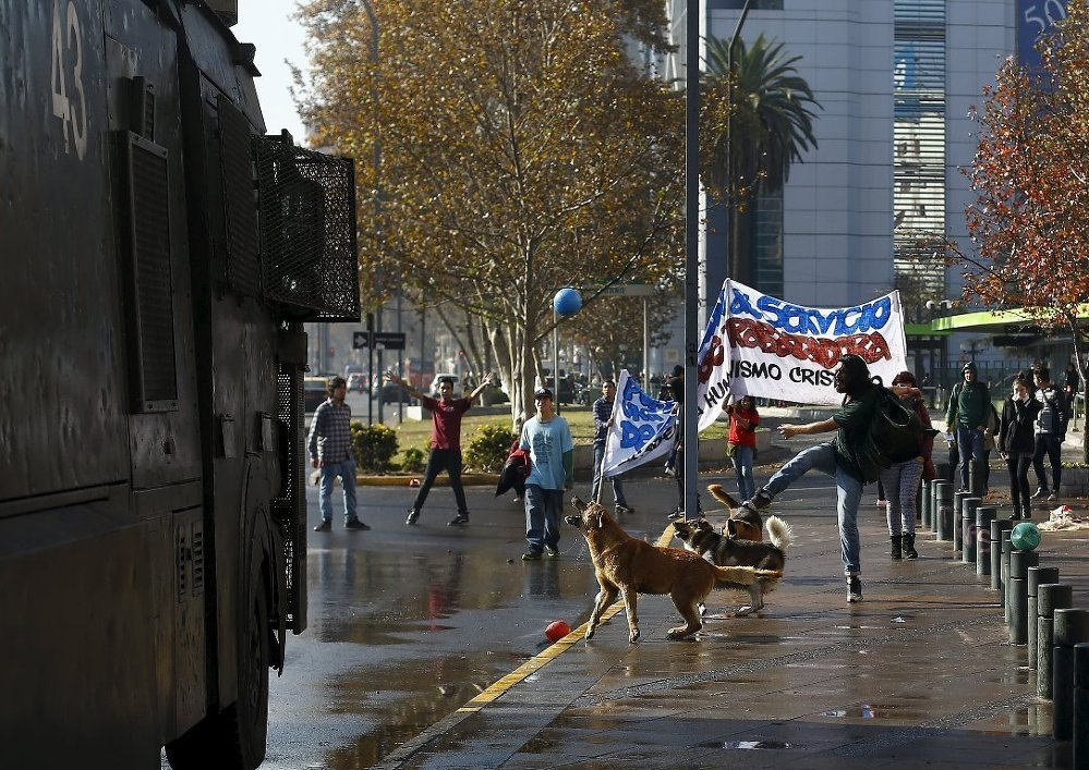 Şili'de protesto