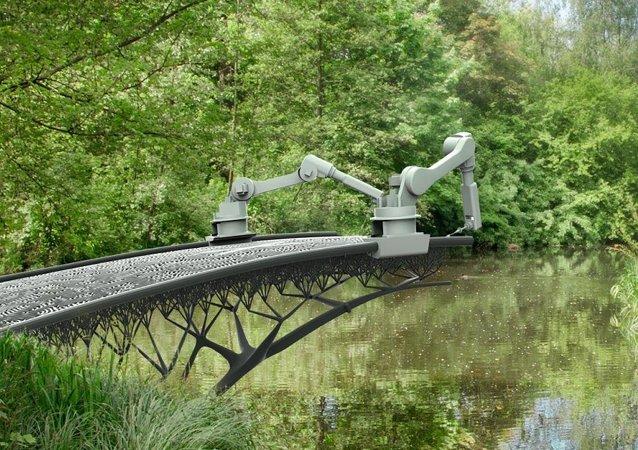 3D yazıcılar Amsterdam'da köprü inşa edecek