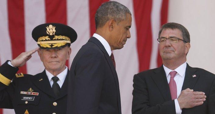 ABD Başkanı Barack Obama- Genelkurmay Başkanı Martin Dempsey- Savunma Bakanı Ashton Carter