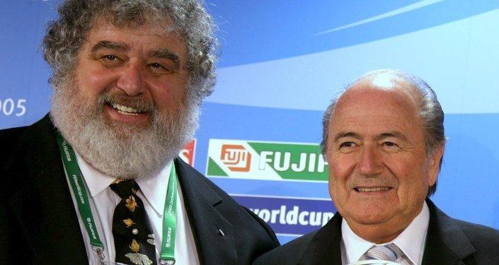 FIFA eski yöneticilerinden Chuck Blazer- FIFA Başkanı Sepp Blatter