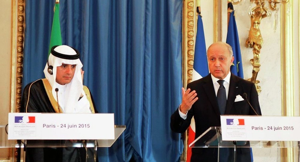 Laurent Fabius & Muhammed bin Salman el-Suud