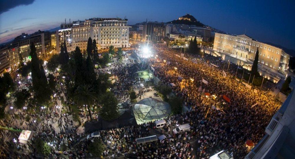 Yunanistan, Atina, protesto