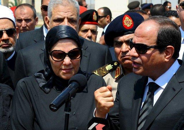 Mısır'da uğradığı suikast sonucunda hayatını kaybeden Başsavcı Hişam Bereket toprağa verildi.