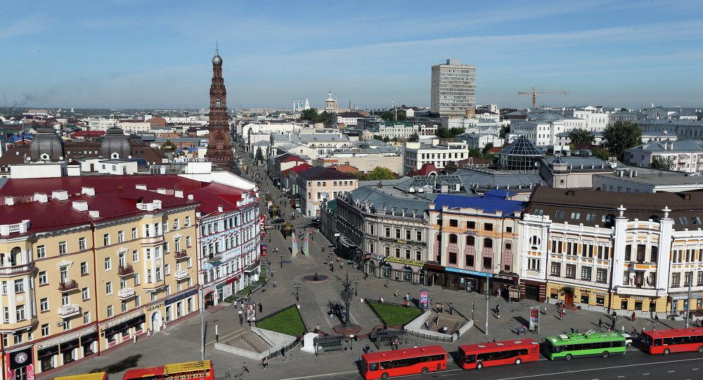 Kazan'daki Baumana caddesi