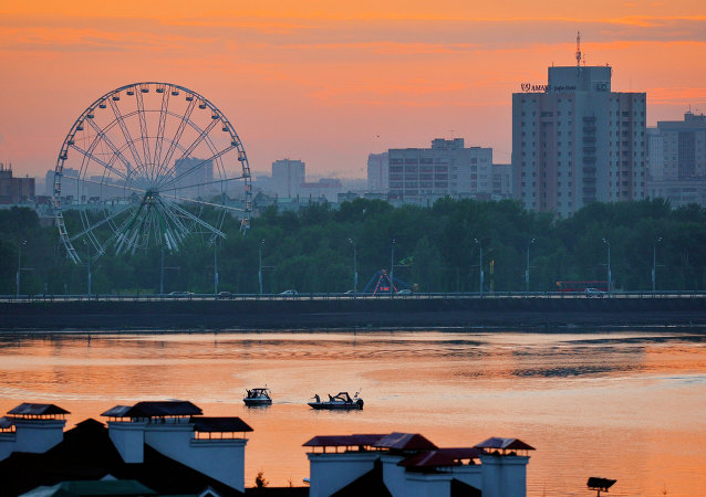 Kazan'daki Kazanka nehri