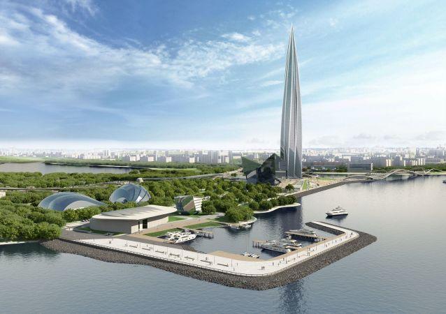 St Petersburg'da inşa edilen Lakhta Center adındaki çok amaçlı sosyal kompleks