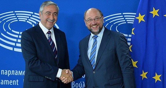 Avrupa Parlamentosu Başkanı Martin Schulz ile KKTC Cumhurbaşkanı Mustafa Akıncı