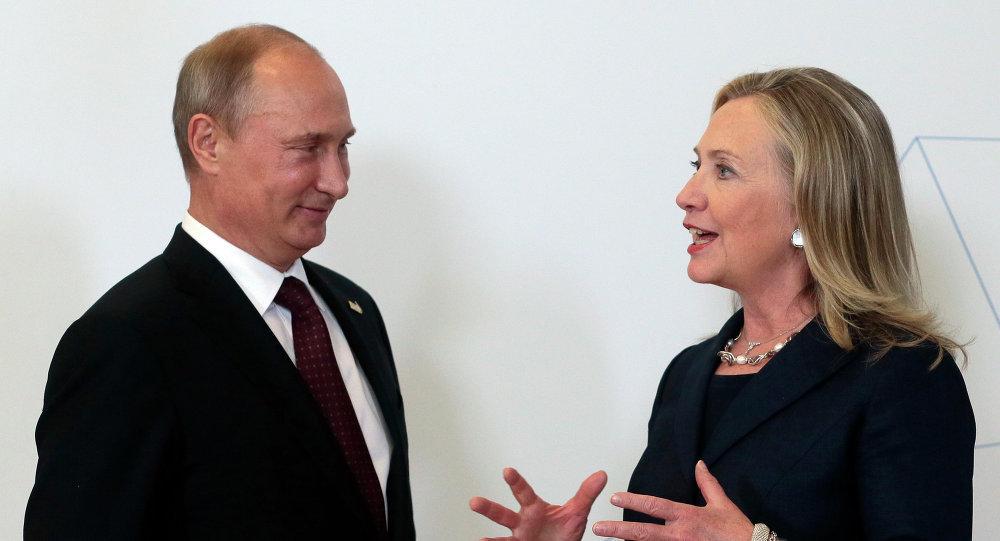 Vladimir Putin&Hillary Clinton