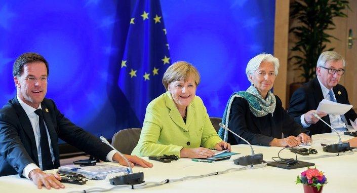 Mark Rutte, Angela Merkel, Christine Lagarde ve Jean-Claude Juncker
