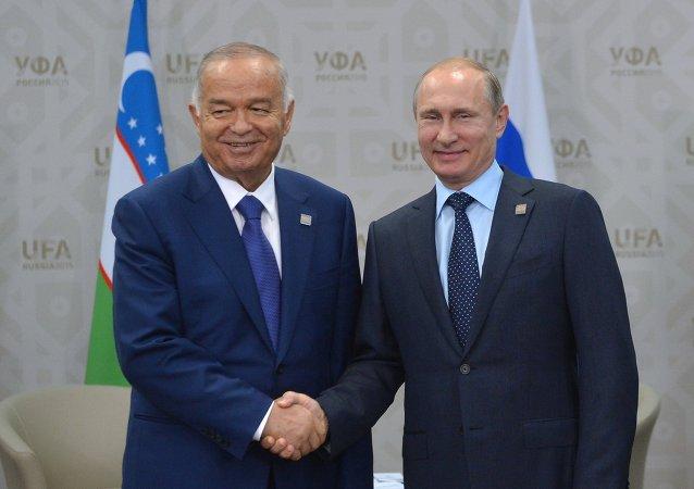 Rusya Devlet Başkanı Vladimir Putin - Özbekistan Devlet Başkanı İslam Kerimov