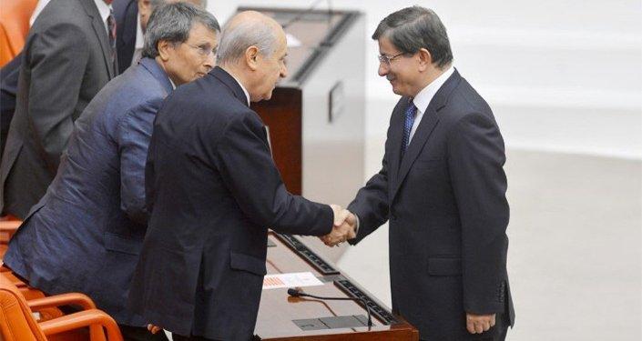 Ahmet Davutoğlu-Devlet Bahçeli