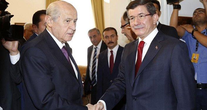 Devlet Bahçeli-Ahmet Davutoğlu