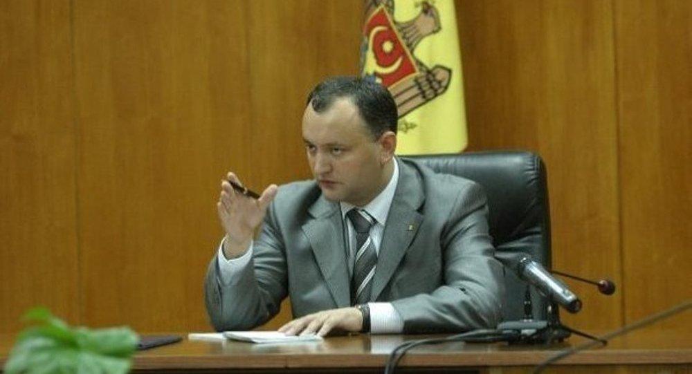 Moldova'da muhalefetteki Sosyalist Parti'nin lideri Igor Dodon