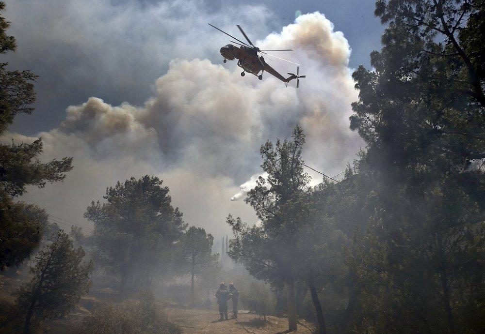 Yunanistan'da yangın
