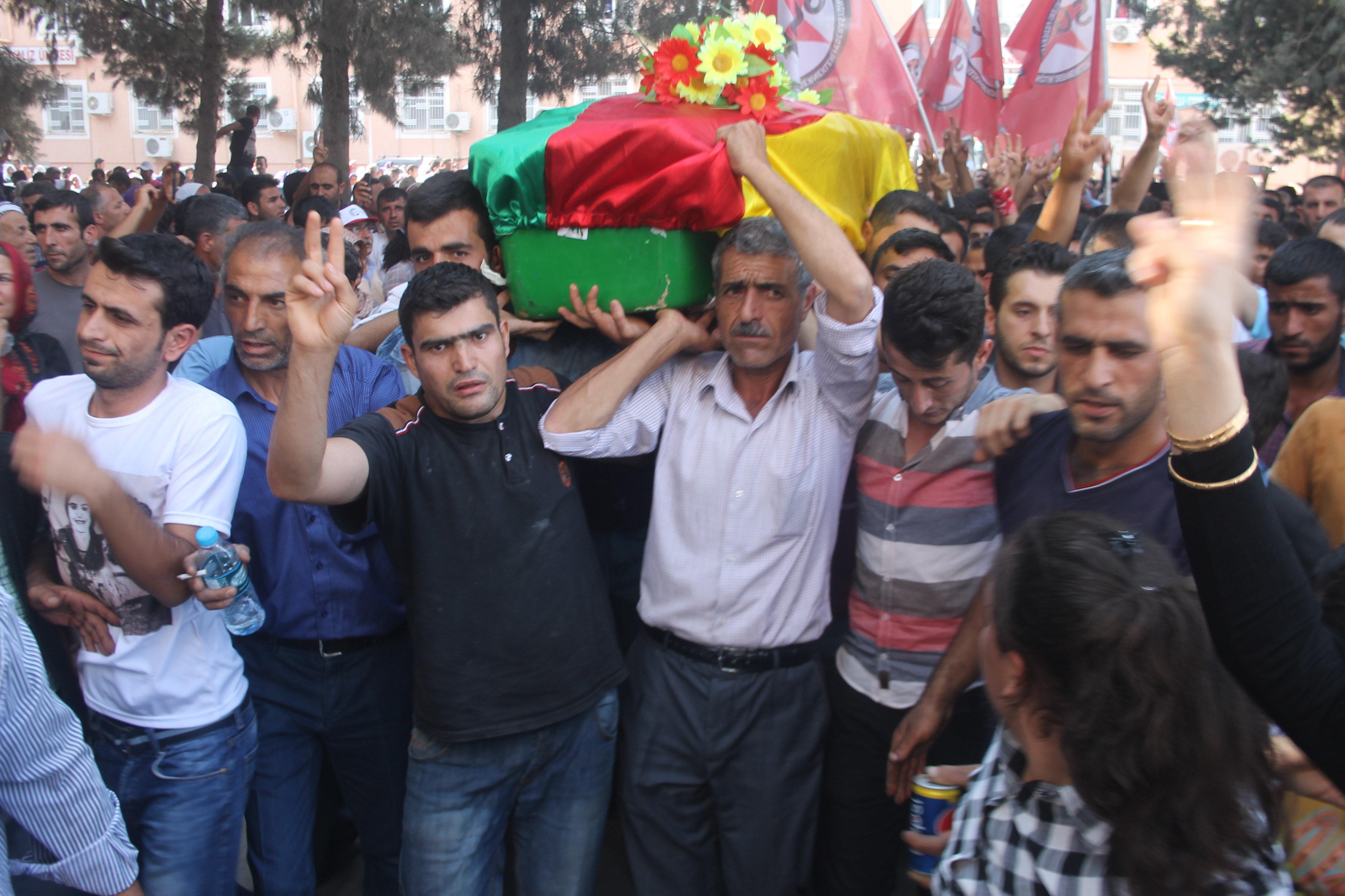 Suruç'taki cenaze töreni