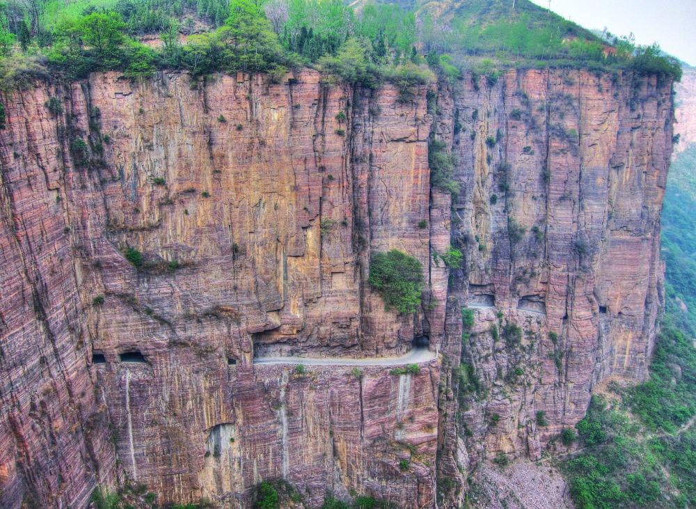 Çin'deki Guoliang tünel yolu