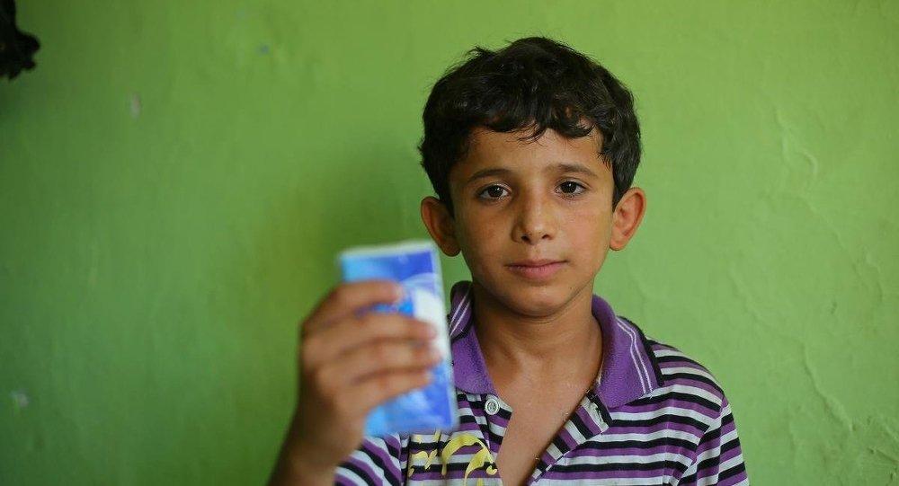 Mendil satarken dövülen Suriyeli çocuk Ahmed Hamdo
