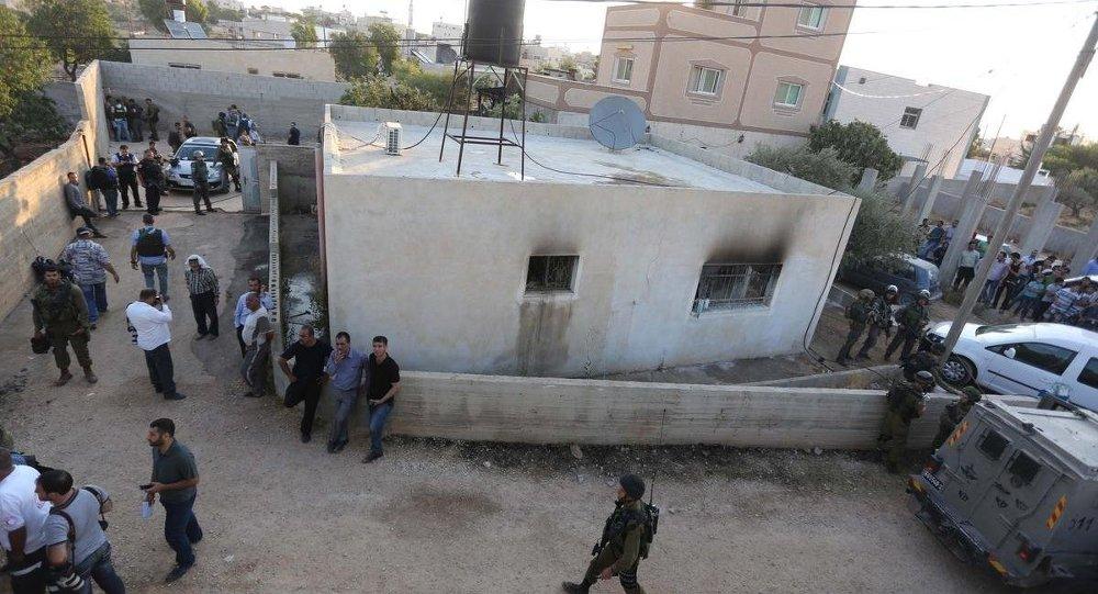 Yahudi yerleşimcilerden, Filistinli ailenin evine saldırı