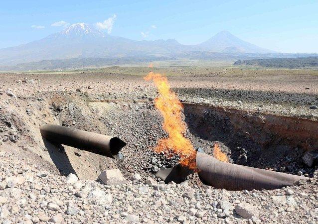 Doğalgaz boru hattındaki patlama