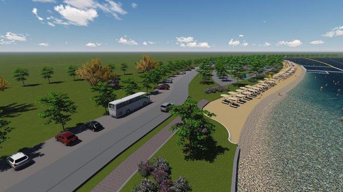Bolu Büyüksu Deresi'nde hayata geçirilecek projeyle, derenin 1 kilometrelik kısmı gölet haline getirilerek, deniz kumuyla yapay plaj oluşturulacak.