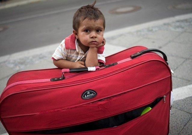çocuk, göçmen, yolcu, mülteci