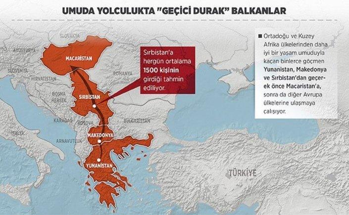 Makedonya ve Sırbistan koridoru, Avrupa'ya gitmek isteyen binlerce göçmenin umuda yolculuğunda sıkça kullanılan güzergahlar arasında yer alıyor.