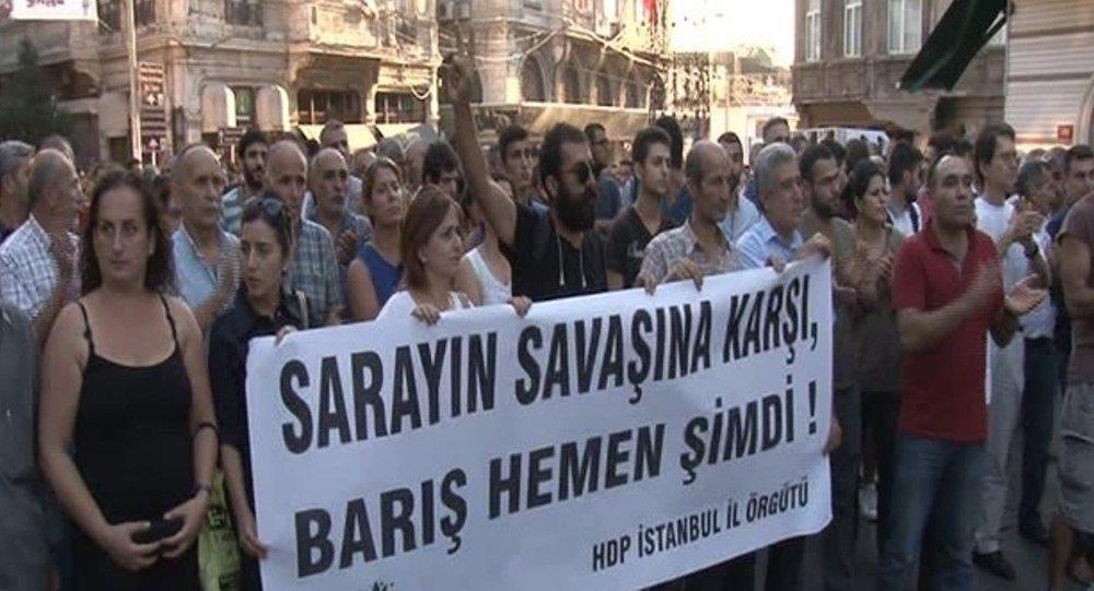 HDP protesto yürüyüşü