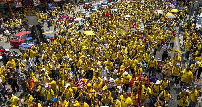 Malezya'da hükümet karşıtı gösteri