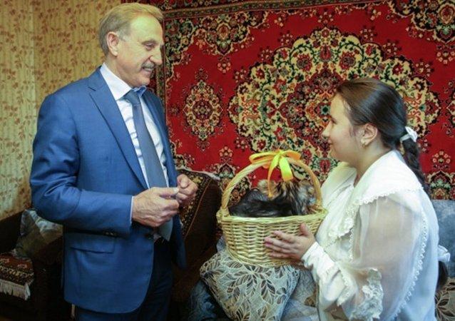 Putin'e mektup yazarak köpek yavrusu isteyen 12 yaşındaki Zlata Kislitsina