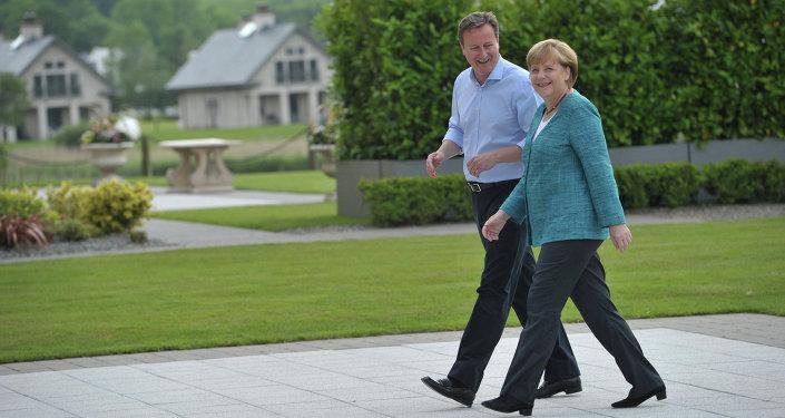 Almanya Başbakanı Angela Merkel - İngiltere Başbakanı David Cameron