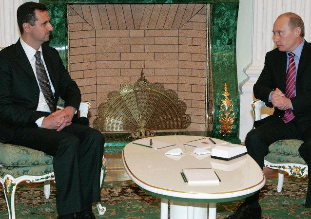 Suriye Devlet Başkanı Beşar Esad - Rusya Devlet Başkanı Vladimir Putin