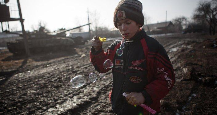 Donetsk'ten bir çocuk