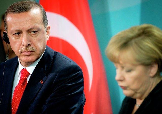 Cumhurbaşkanı Erdoğan ve Almanya Başbakanı Merkel