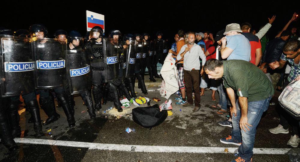 Hırvatistan'da göçmenler