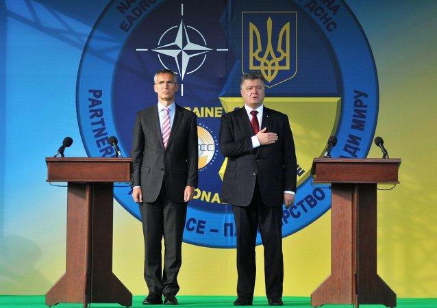 NATO Genel Sekreteri Jens Stoltenberg - Ukrayna Devlet Başkanı Pyotr Poroşenko
