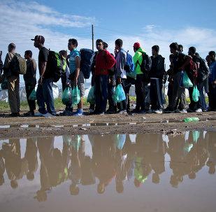 Yunanistan sınırında mülteciler