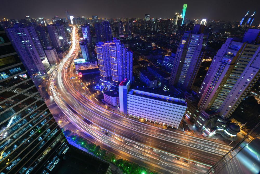Gece şehir manzarası
