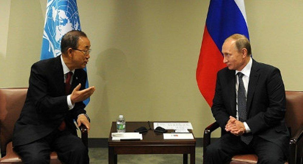 Ban Ki-mun - Vladimir Putin