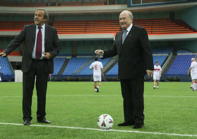 Michel Platini & Joseph Blatter
