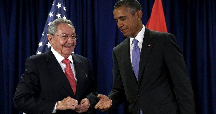 Küba lideri Raul Castro- ABD Başkanı Barack Obama