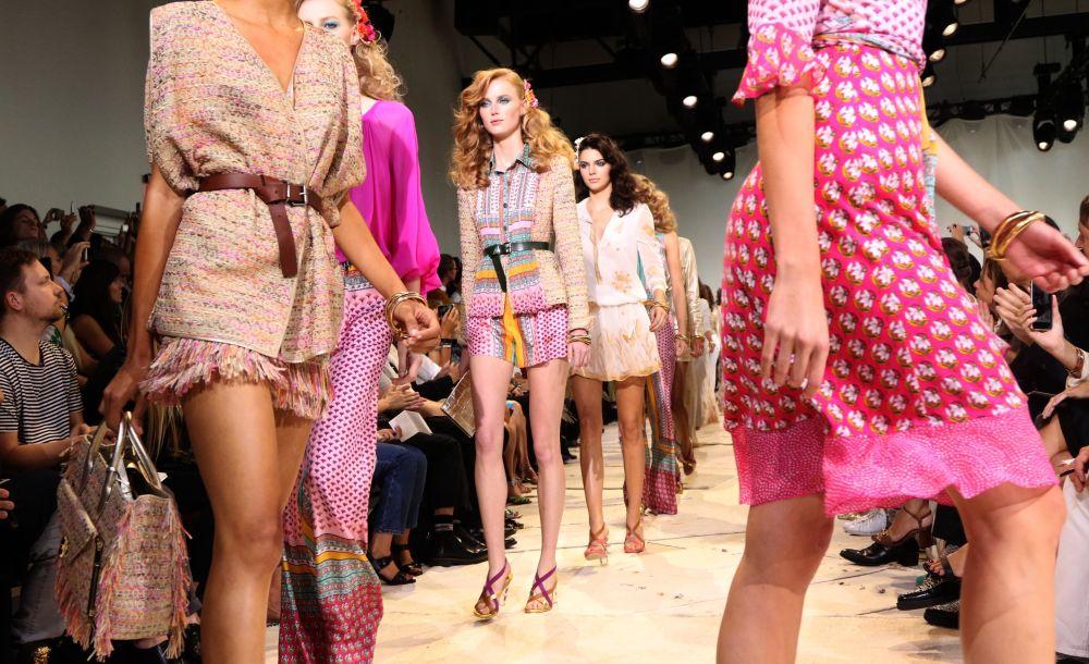 Modeller, New York Fashion Week 2015.