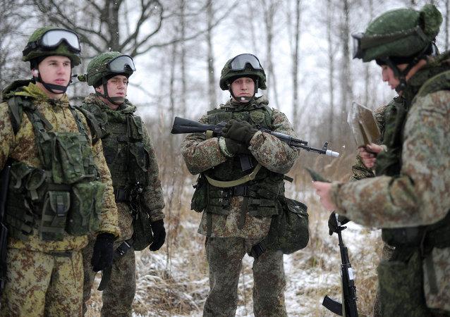 Rus askeri Ratnik ile