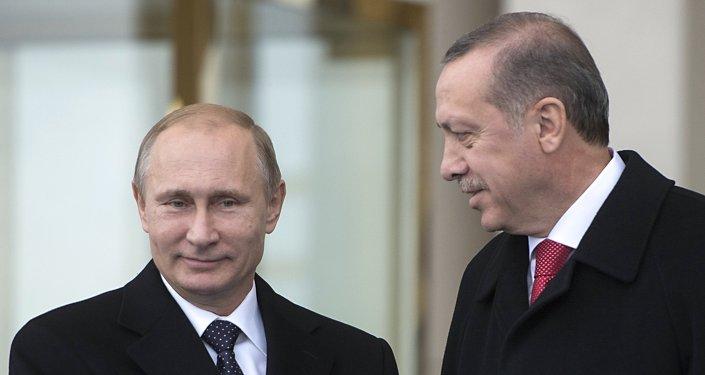 Vladimir Putin ve Recep Tayyip Erdoğan