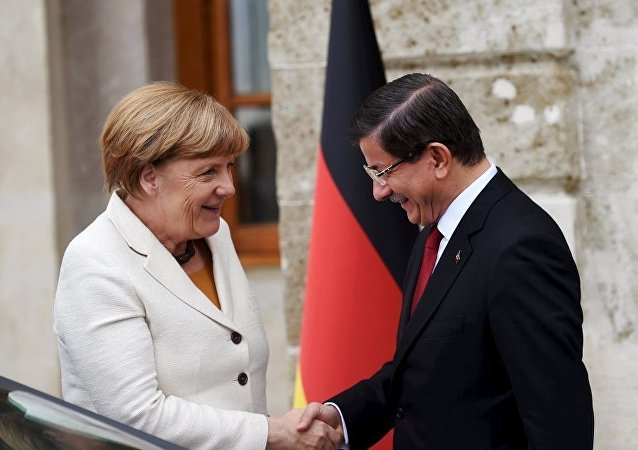 Angela Merkel - Ahmet Davutoğlu