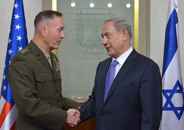 ABD Genelkurmay Başkanı Joseph Dunford- İsrail Başbakanı Benyamin Netanyahu