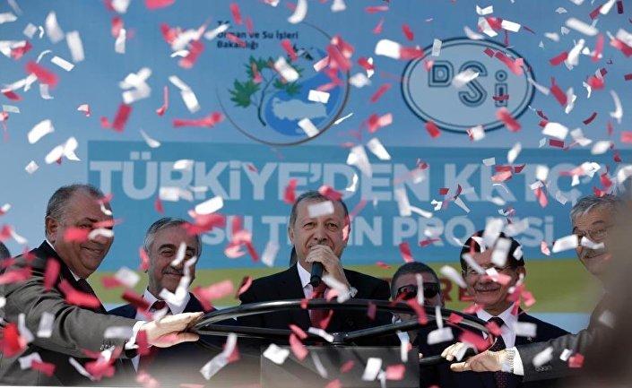 'KKTC Su Temin Projesi'nin açılışı...