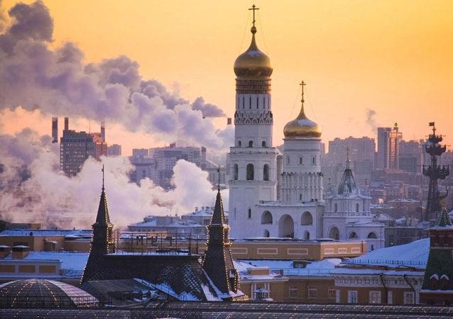 Kışın Moskova.